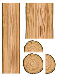 Struttura e parti di legno Immagine Stock