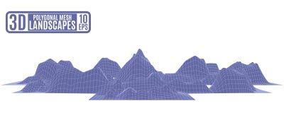 Struttura eccellente per la pubblicità delle montagne porpora illustrazione vettoriale