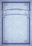 Struttura ed insegna rettangolari decorative su struttura del denim Fotografie Stock