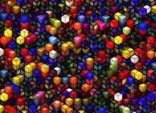Struttura edile dai cubi Ambiti di provenienza astratti di architettura Immagine Stock Libera da Diritti