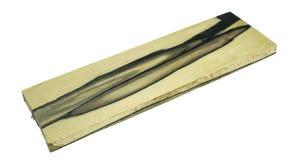 Struttura esotica di legno in bianco e nero reale del fondo immagine stock