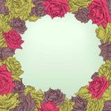 Struttura floreale con le rose illustrazione vettoriale