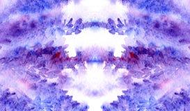Struttura floreale cremisi porpora viola del fondo della lavanda dell'acquerello Fotografia Stock