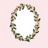 Struttura floreale d'annata, cartolina d'auguri per progettazione illustrazione vettoriale