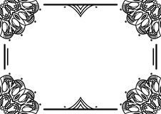 Struttura floreale decorativa su fondo bianco con il posto per testo Fotografia Stock Libera da Diritti