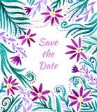 Struttura floreale dell'acquerello, modello del confine Fondo della pittura della mano dell'acquerello con i fiori L'acquerello d royalty illustrazione gratis