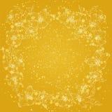 struttura floreale di progettazione grafica di scintillio Pittura dell'oro Fotografia Stock