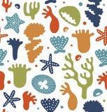 Struttura floreale senza cuciture con i fiori, ninfee, loto, modello alla moda della natura Fondo decorativo di vettore, superfic Fotografie Stock