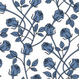 Struttura floreale senza cuciture con le rose Immagini Stock
