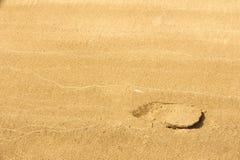 Struttura, fondo La sabbia sulla spiaggia subst granulare sciolto Fotografia Stock Libera da Diritti