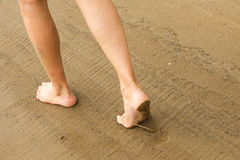 Struttura, fondo La sabbia sulla spiaggia subst granulare sciolto Fotografia Stock