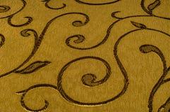 Struttura, fondo, modello Tessuto del damasco con i modelli brillanti Fotografia Stock