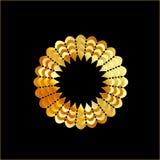 Struttura a forma di del fiore dorato Immagine Stock Libera da Diritti