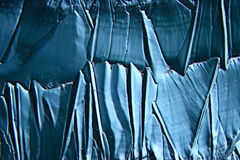 Struttura fredda del ghiaccio del fondo blu astratto Immagine Stock