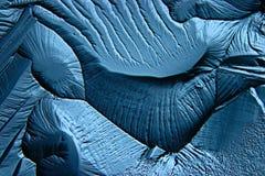 Struttura fredda del ghiaccio del fondo blu astratto Fotografia Stock