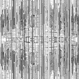 Struttura futuristica della città della megalopoli Fotografia Stock