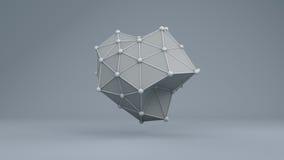 Struttura futuristica 10868 della geometria di Wireframe Fotografia Stock