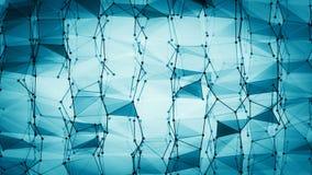 Struttura futuristica 10871 della geometria di Wireframe Fotografia Stock Libera da Diritti