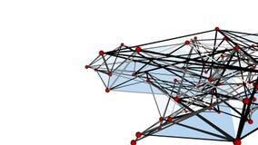 Struttura futuristica 10864 della geometria di Wireframe Fotografie Stock