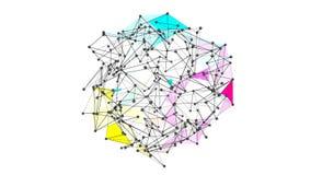 Struttura futuristica 10866 della geometria di Wireframe Fotografia Stock