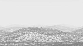 Struttura geometrica delle montagne illustrazione vettoriale