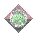 Struttura geometrica di modo semplice illustrazione di stock