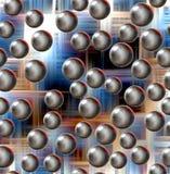 Struttura geometrica e forme rotonde, fondo Fotografie Stock Libere da Diritti