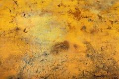Struttura gialla del fondo della parete Immagini Stock Libere da Diritti