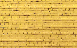 Struttura gialla della foto del fondo del muro di mattoni Immagine Stock Libera da Diritti