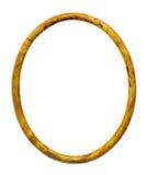 Struttura gialla ovale Fotografia Stock