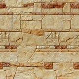 Struttura gialla senza cuciture del muro di mattoni Fotografia Stock