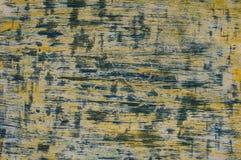Struttura giallo-blu orizzontale fatta a mano Fotografia Stock