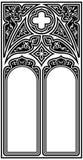 Struttura gotica di stile Fotografia Stock