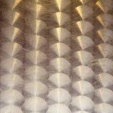 Struttura graffiata del metallo, dorata fotografia stock