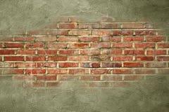 Struttura graffiata grigio scuro sul vecchio fondo del muro di mattoni Immagine Stock Libera da Diritti