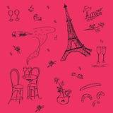 Struttura grafica di Vecor nello stile francese illustrazione vettoriale