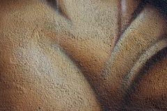 Struttura granulare di un muro di cemento verniciato Fotografia Stock Libera da Diritti
