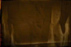 Struttura granulosa e graffiata in bianco della striscia di pellicola Fotografia Stock