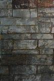 Struttura grigia del mattone del vecchio mattone del primo piano per fondo immagine stock