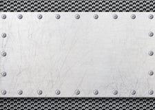 Struttura grigia del metallo con la maglia nei precedenti, templ del ferro di struttura immagini stock