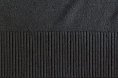 Struttura grigia del tessuto del poliestere con le bande manicotto Fotografia Stock Libera da Diritti