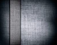 Struttura grigia della tela di canapa con la banda fotografia stock libera da diritti