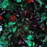 Struttura grigia e verde esotica del fondo dalla compilazione della m. Fotografie Stock