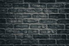 Struttura grigio scuro del primo piano del muro di mattoni - backgrou ruvido della muratura Fotografia Stock
