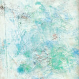 Struttura grungy artistica della priorità bassa di verde blu Immagini Stock Libere da Diritti