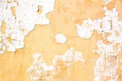 Struttura grungy gialla e bianca della parete immagini stock