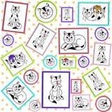 Struttura Immagini dei gatti macchiati illustrazione vettoriale