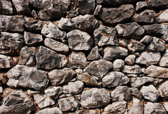 Struttura impilata del fondo delle pietre Fotografia Stock Libera da Diritti