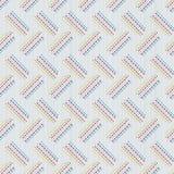 Struttura inclinata di sashiko Reticolo senza giunte astratto Fotografia Stock