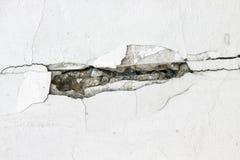 Struttura incrinata in bianco e nero del pavimento Fotografia Stock Libera da Diritti